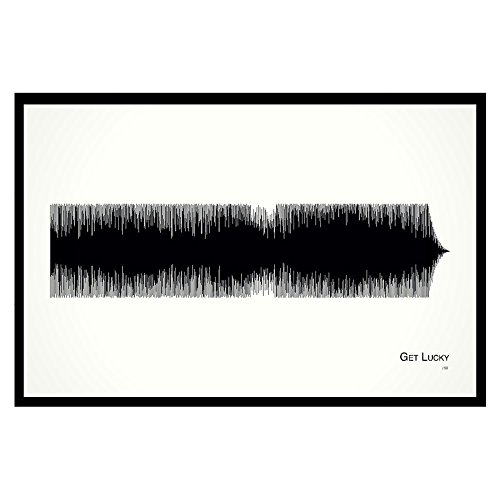 Get Lucky - 11x17 Framed Soundwave print