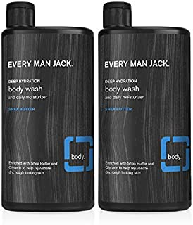 product image for Every Man Jack Men's Body Wash - Shea Butter | 16.9-ounce Twin Pack - 2 Bottles Included | Naturally Derived, Parabens-free, Pthalate-free, Dye-free, and Certified Cruelty Free