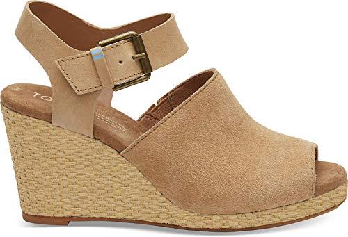 (TOMS Women's Tropez Sandal Honey Suede/Leather 7 M)