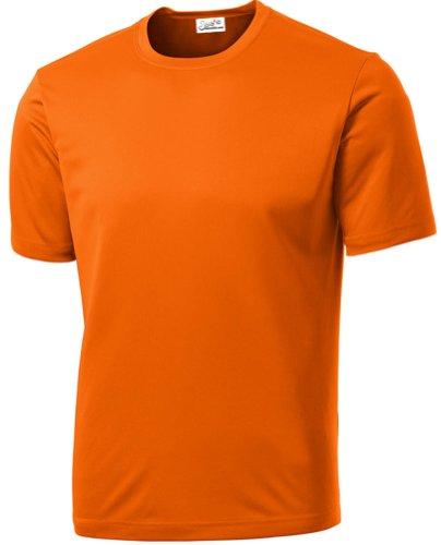 Youth T-shirt Practice Black (Joe's USA Dri-Equip(tm) Youth Athletic All Sport Training Tee Shirt,S-Deep Orange)
