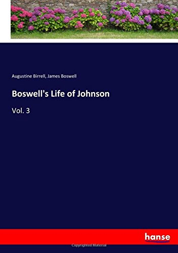 Read Online Boswell's Life of Johnson: Vol. 3 PDF