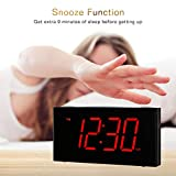 "Rocam Home LED Digital Alarm Clock - 6.5"" Large Red"