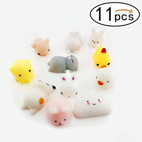 Price comparison product image Denshine Squishies, Squishies Toys Squishies Slow Rising kawaii Toys Cheap Squishies Stress Reliever Super Soft Squishy Animal Educational Toys Best Party Favors Stocking Stuffer(11 pcs)