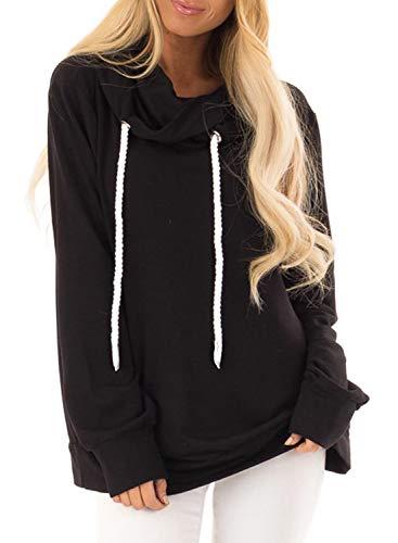 cowl neck hoodie woman - 2