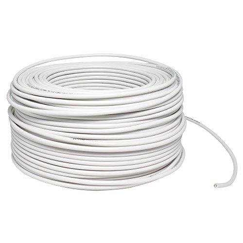 Surtek 136958 Cable THW, Calibre 14, Cobre-Aluminio, Color Blanco, 100 Metros