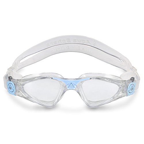Aqua Sphere Kayenne Ladies Swimming Goggle with Clear Lens, Clear & Blue UV Protection Anti Fog Swim Goggles for Women by Aqua Sphere (Image #3)