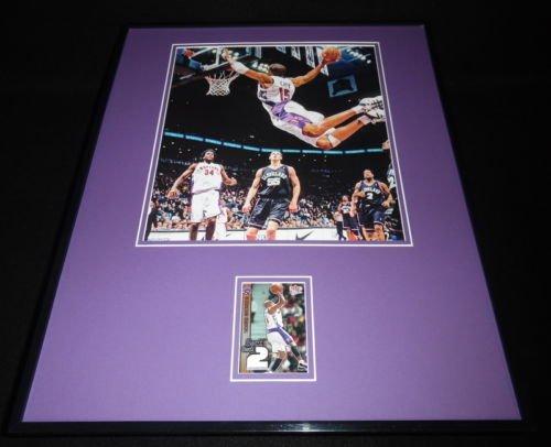 Toronto Raptors Framed (Vince Carter 16x20 Framed Game Used Warmup & Photo Display Toronto Raptors)