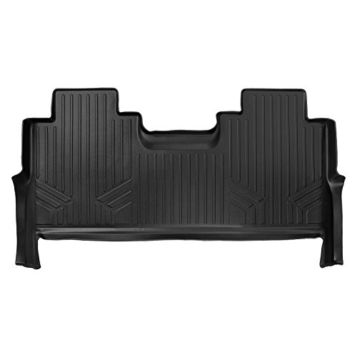 SMARTLINER Floor Mats 2nd Row Liner Black for 2017-2019 Ford F-250 / F-350 Super Duty Crew Cab with 1st Row Bucket Seats