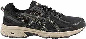 ASICS Mens Gel-Venture 6 Running Shoe, Black/Grey/Feather Grey, 12 D(M) US