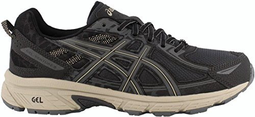 ASICS Mens Gel-Venture 6 Running Shoe, Black/Grey/Feather Grey, 11 D(M) US