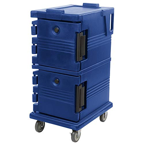 TableTop King UPC600186 Navy Blue Camcart Ultra Pan Carrier - Front - Camcart Blue