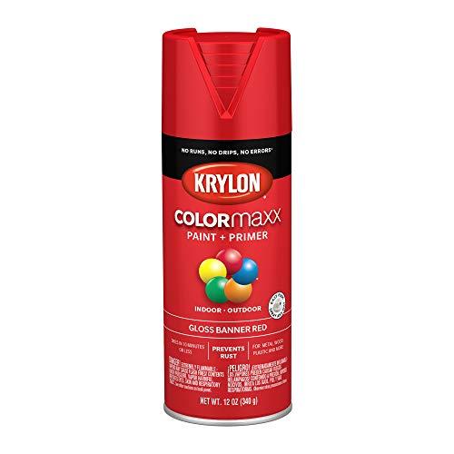 Krylon K05503007 COLORmaxx Spray Paint Aerosol Banner Red