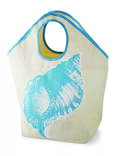 Size Natrural Low One amp; Mud Tide Pie Bags Jute Conch Multicoloured Cute Laminated Totes Women's Cotton Tote 1pnqwZS