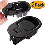 Cheap FOLAI Recliner Replacement Parts – Replacement Recliner Handle Chair Sofa Couch Release Replacement Metal Handle Black Metal Pull Recliner Handle 2pcs