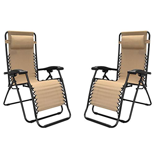 Caravan Sports – Two Pieces Infinity Zero Gravity Chair, Beige