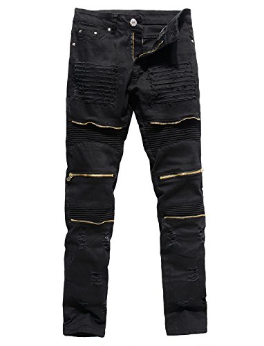 Zipper Straight Men Pants - 4