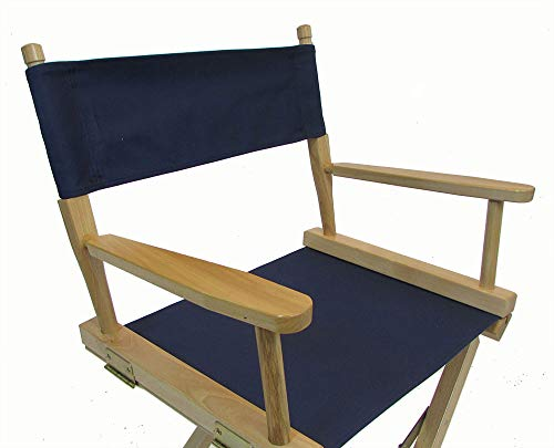 DCC Telescope Compatible Replacement Canvas Director's Chair Cover (Round Stick) (Navy)