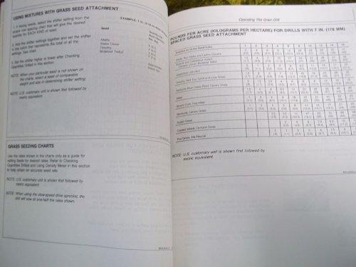 John Deere 9400 Press Wheel Hoe Drill OEM OEM Owners's Manual ()