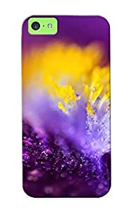 fenglinlinAwesome PtQBjp-3142-qWMUQ Blackducks Defender Tpu Hard Case Cover For iphone 4/4s- Raindrops On The Purple Flower