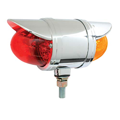 GG Grand General 77933 Spyder Amber/Red Led with Clear Rim & Visor, 2 Function
