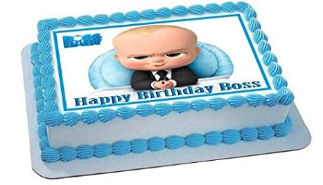 Amazon.com: Boss - Decoración comestible para tartas de bebé ...