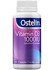 Ostelin Vitamin D3 1000IU - For Strong Bones - Increases Calcium Absorption - 1-a-day, 250 Capsules