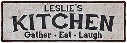 Amazon Com Leslie S Kitchen Personalized Rustic Chic Decor