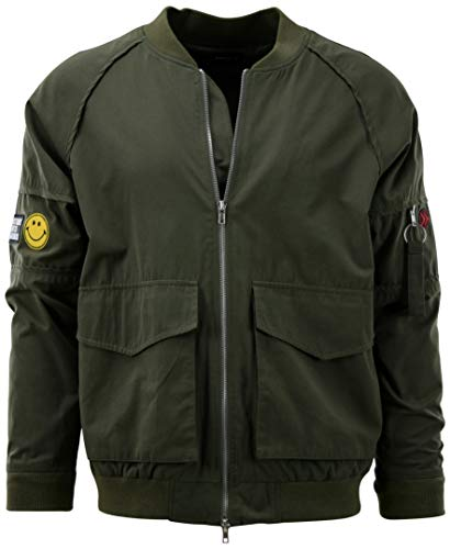 Mens Premium Quality Bomber Flight Jacket (L, 013-Olive)