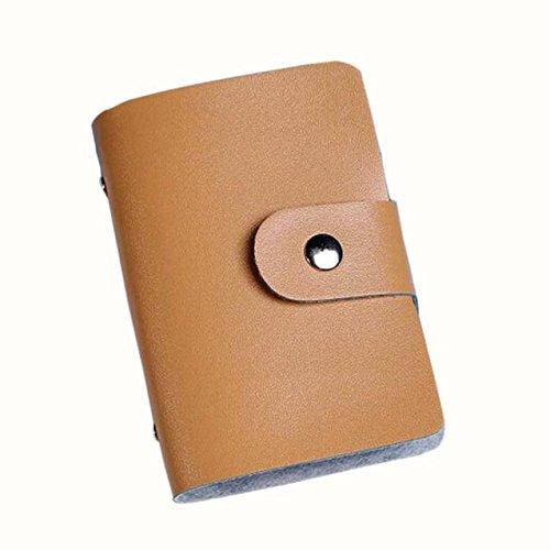 Credit Card Holder Case Card Holder Men Women Artificial Leather Bag Wallet Business Card Bag - 24 Card Bits