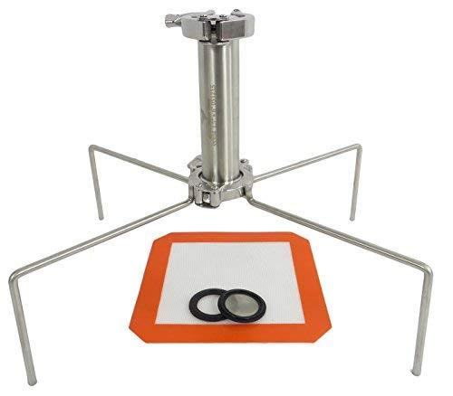 Best Value Vacs Brand- SS304 Sanitary Fitting Tri-Clamp 45 Gram Quadpod Open Blast Extractor