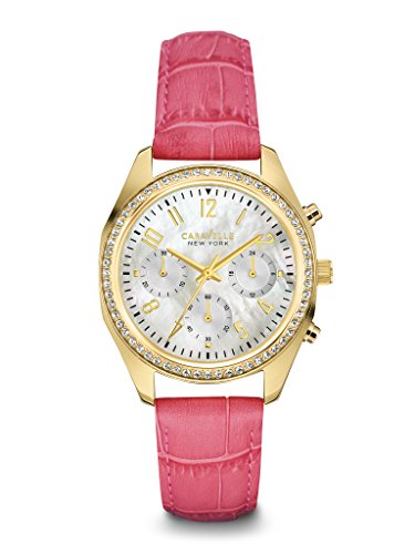 Caravelle Womens Strap - Caravelle New York Women's 44L169 Crystal Chronograph Strap Watch
