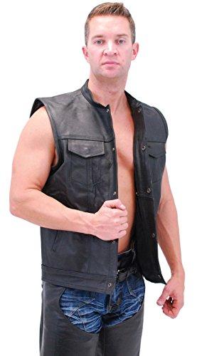 Jamin' Leather Economy Gun Vest w/One Piece Back (40) (Economy One Piece)