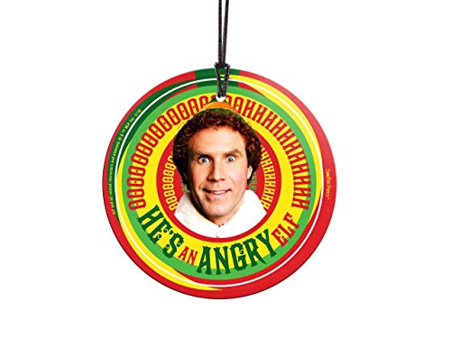 Trend Setters Will Ferrell - Buddy The Elf - Angry Elf - Christmas Movie Collectible - Suncatcher Hanging Glass Collectible (Elf Ornament Buddy The)