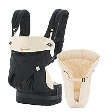 Ergobaby Bundle of Joy 360 Baby Carrier, Black/Camel