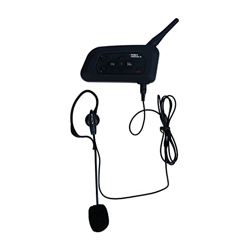 EstgoSZ Bluetooth Intercom V4C for 4 Users Full Duplex Real Time Communication Support FM Function with Armband Headset for Football Soccer Referee - Referee Armband
