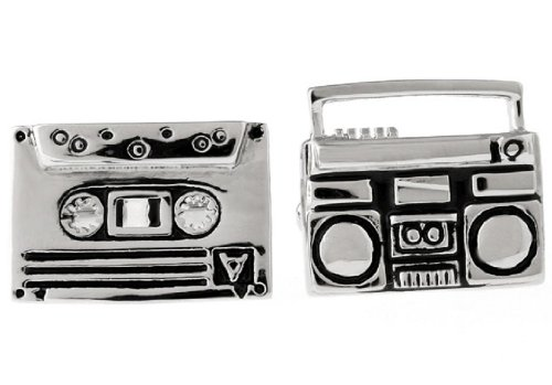 LBFEEL Tape Record Cufflinks for Mens Jewelry with a Gift Box