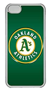 Creative GOOD 5C Case, iPhone 5C Case, Personalized Hard PC Clear Shoockproof Protective Case Cover for New Apple iPhone 5C - Oakland Athletics