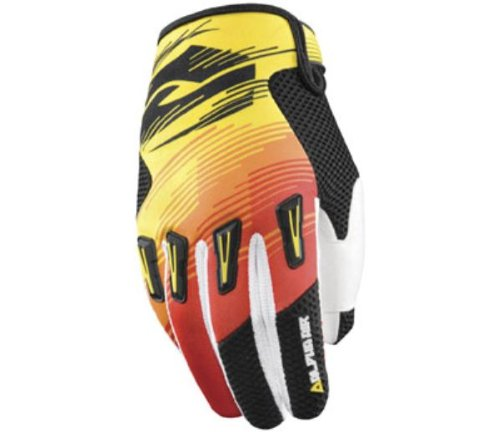 Answer Racing Alpha Air Men's MotoX Motorcycle Gloves - Yellow/Red - Medium