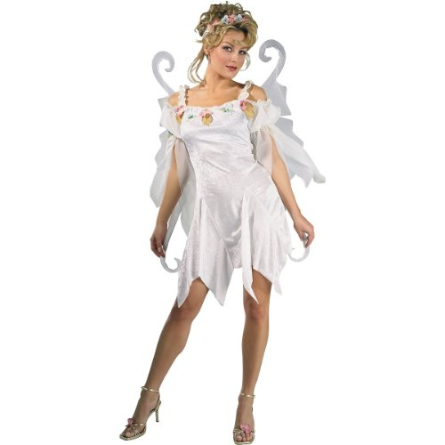 Secret Wishes Women's Enchanted Creature Adult Snow Fairy Costume, White, Small (Enchanted Wishes Costume)