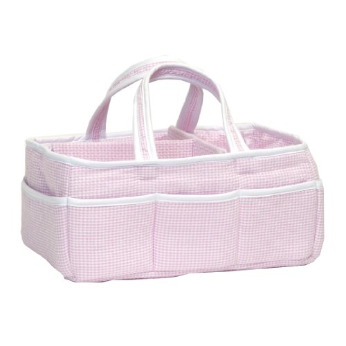 Trend Lab Gingham Seersucker Storage Caddy, Pink