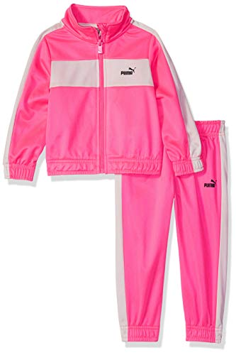PUMA Toddler Girls' 2 Piece Tricot Set, Knock Out Pink 2T