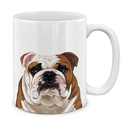 MUGBREW Cute English Bulldog Full Portrait Ceramic Coffee Gift Mug Tea Cup, 11 OZ