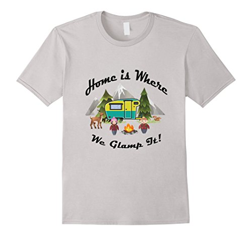 Vintage-RV-Home-is-where-We-Glamp-It-Camping-T-Shirt