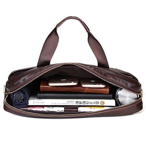 Spalla 15 uomo Notebook Messenger Casual in per Business Messenger caffè Colore Borsa pelle Borsa Business pollici portatile R74Fqw