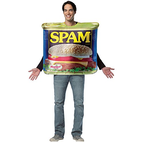 [Rasta Imposta Get Real Spam Costume, Blue, Adult] (Food Halloween Costumes For Adults)