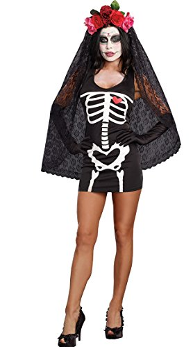 Halloween Witch Costumes for Women Hooded Cloak Cosplay Party Outfit Dark Fallen Angel Dress (Medium, (Scary Asian Halloween Costumes)