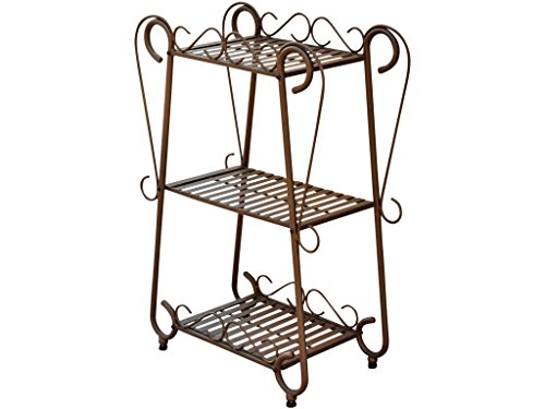 International Caravan Santa Fe 3-Tier Plant Shelf Set from International Caravan