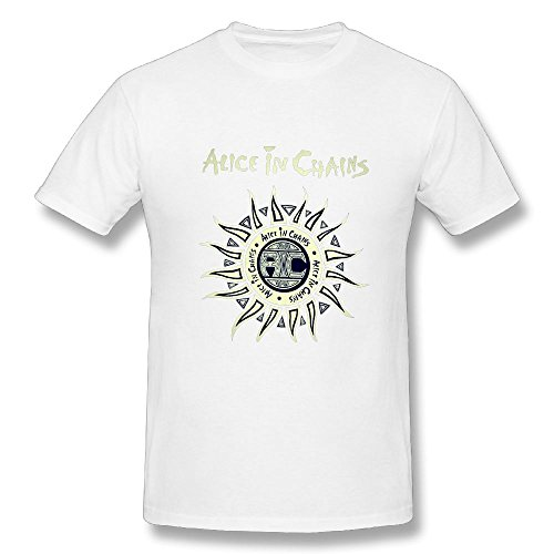 TisEEaZs Men's Alice in Chains Tees - Vintage Tee White L