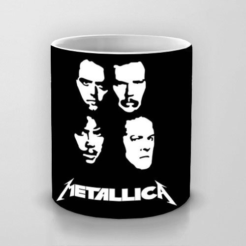 Mug Mug Metallica 4White Unique drink Star Ceramic Mug coffee tea Mugs Mug Music Design deCroQWxB