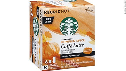 Starbucks Pumpkin Spice Caffe Latte Specialty Coffee K-Cups 6 Count